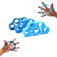 3 pack Finger Resistance Bands Hand Extensor Exerciser Grip Strengthener Strength Trainer for Guitar and Rock Climbing