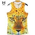 Homens sem mangas Tanque 3D Top Masculino Camisola colete Camisa T-Shirt Dos Homens de roupas de Fitness Musculação Colete Camisas Masculinas Do Tigre 3D