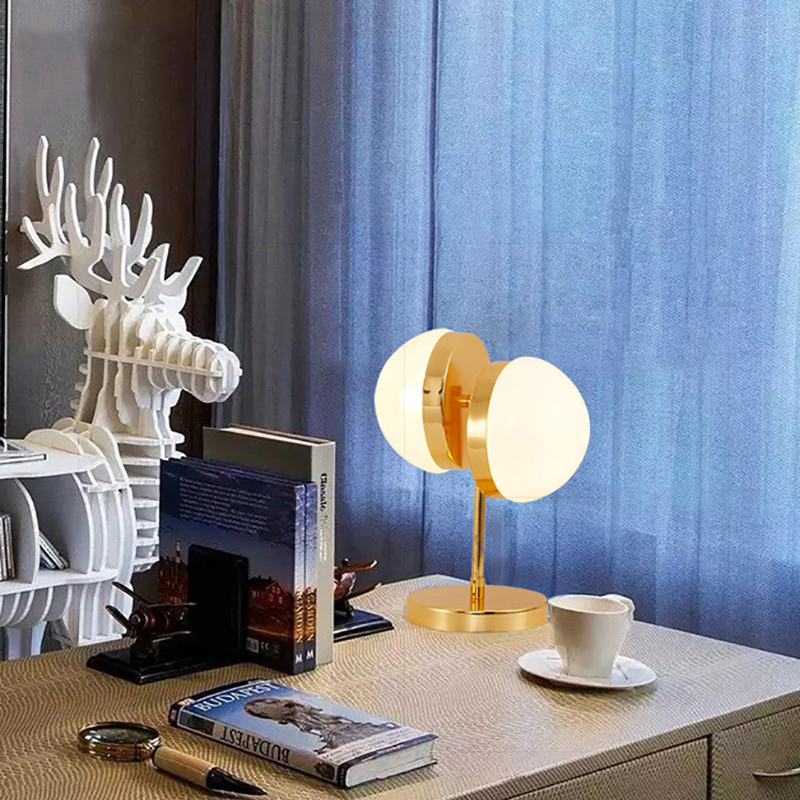 SGROW Modern Half Sphere Table Led Lamps For Bedroom Living Room Study Decoration Glass Desk Light Lamparas Lighting Fixtures