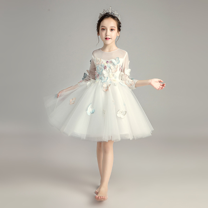 Lovely Animal Flower Girl Dresses for Wedding Ball Gown Princess Party Dress Birthday Costume Tulle Girls Formal Dress B442Lovely Animal Flower Girl Dresses for Wedding Ball Gown Princess Party Dress Birthday Costume Tulle Girls Formal Dress B442