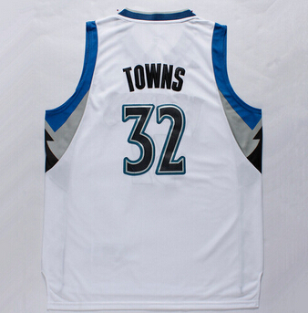 new 2015 Draft Pick Karl Anthony Towns Jersey 32 Minnesota Basketball  Jerseys Karl Anthony Towns Shirt Black Blue White-in Basketball Jerseys  from Sports ... 7d51fa089