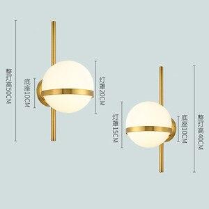 Image 5 - BEIAIDI בציר תעשייתי זכוכית גלוב קיר אור נורדי ירח כוכב ליד המיטה בחדר שינה מנורות פנס מראה בחדר אמבטיה