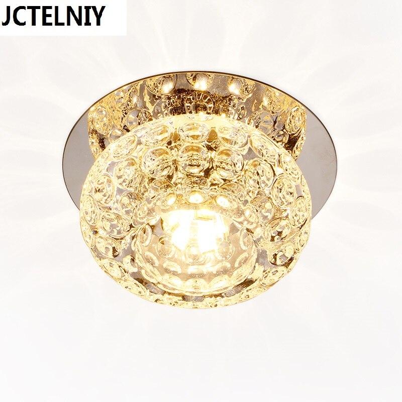 Corredor espejo lámpara de techo Aisle Veranda iluminación abajo cristal moderno superficie 5 W LED luces de techo para la sala