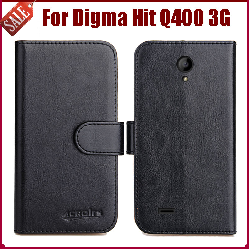 Hot! Digma Hit Q400 3G Case New Arrival 6 Colors High Quality Flip Leather Protective Phone Cover For Digma Hit Q400 3G Case