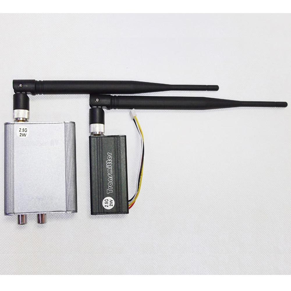 ФОТО 2W/2000mw 2.5G 4-CH 4 channel Wireless Video Audio AV Transmitter Receiver Sender PAL/NTSC for FPV CCTV camera