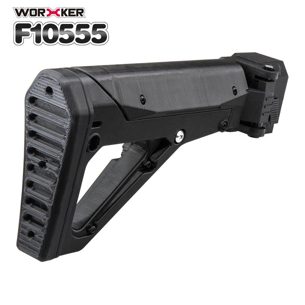 Ouvrier Mod épaule Stock impression 3D pliable queue Stock Buttstock jouet pistolet accessoires pour Nerf n-strike Elite série bricolage jouets