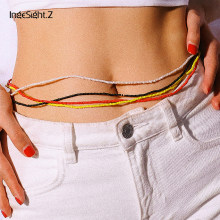 IngeSight.Z 7 Colors Bohemian Colorful Bead Body Chain Simple Minimalist Harness Waist Belly Chain Belt for Women Female Jewelry(China)