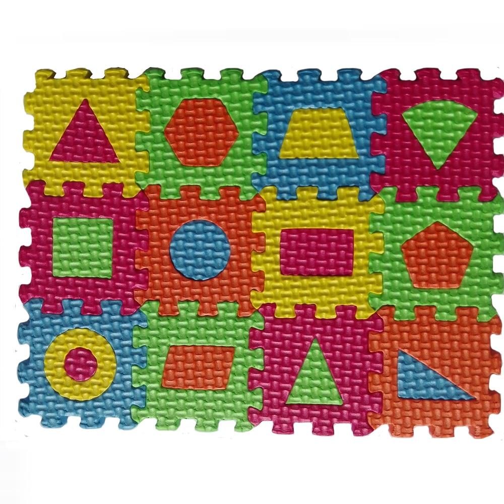 Floor mats shop - Children Mini Eva Foam Trivial Square Geometry Floor Soft Baby Mat 3d Puzzle Kids Educational Toys 36 Pcs For Children Gift
