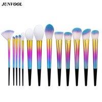 13Pcs Rainbow Makeup Brushes Set Kit Professional Foundation Eyeshadow Lip Fan Brush Tool Beauty Cosmetic Tools Pincel Maquiagem