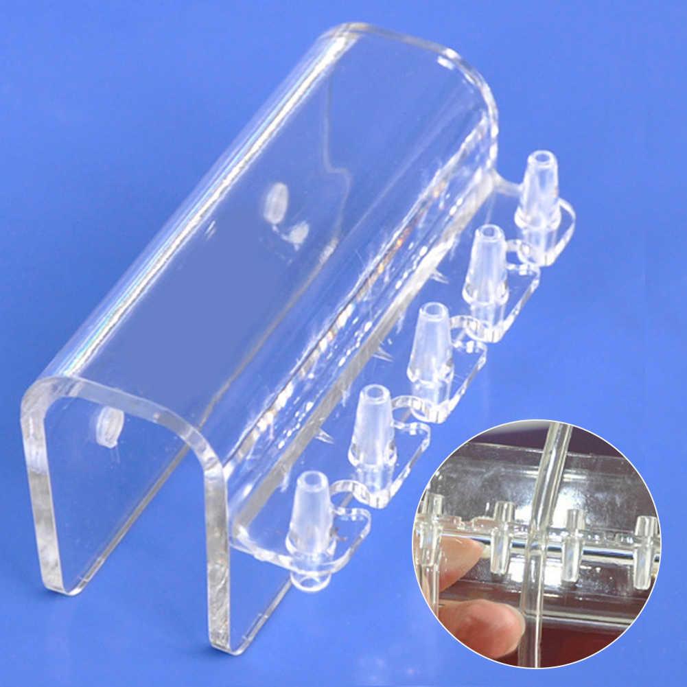 5 tubos de suspensión de Tubo Transparente suministros Abrazadera múltiple soporte de manguera suave soporte de fijación bomba dosificadora acuario Rack PC Fish Mount
