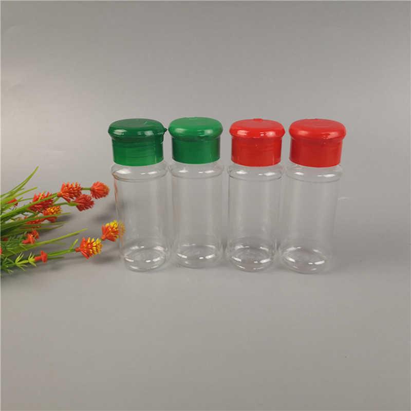 2 قطعة/المجموعة البلاستيك الملح الفلفل الخل النفط إبريق زجاجي شاكر جرة زجاجة شفافة وعاء