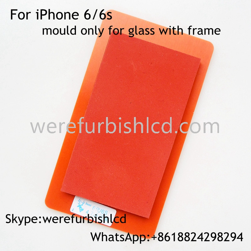 For iphone 6 6S glass with frame soft silicone pad mould for OCA Laminating machine silica