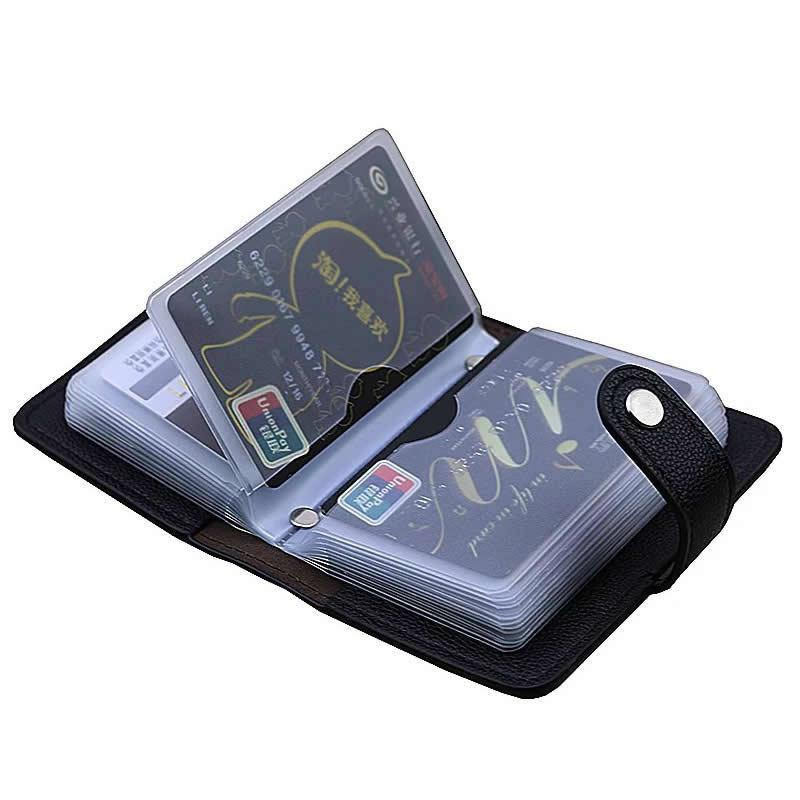 24 Cards High Capacity Card Organizer Wallet High Quality Bank Credit Card Case Unisex Business Card Holder Wallet ID Holders