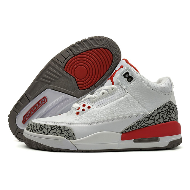 newest f92c9 7638d Jordan 3 Men Basketball Shoes Katrina White Cement Black Cat Bred Military  Blue Pure Money Fire Red Athletic Outdoor Sneakers