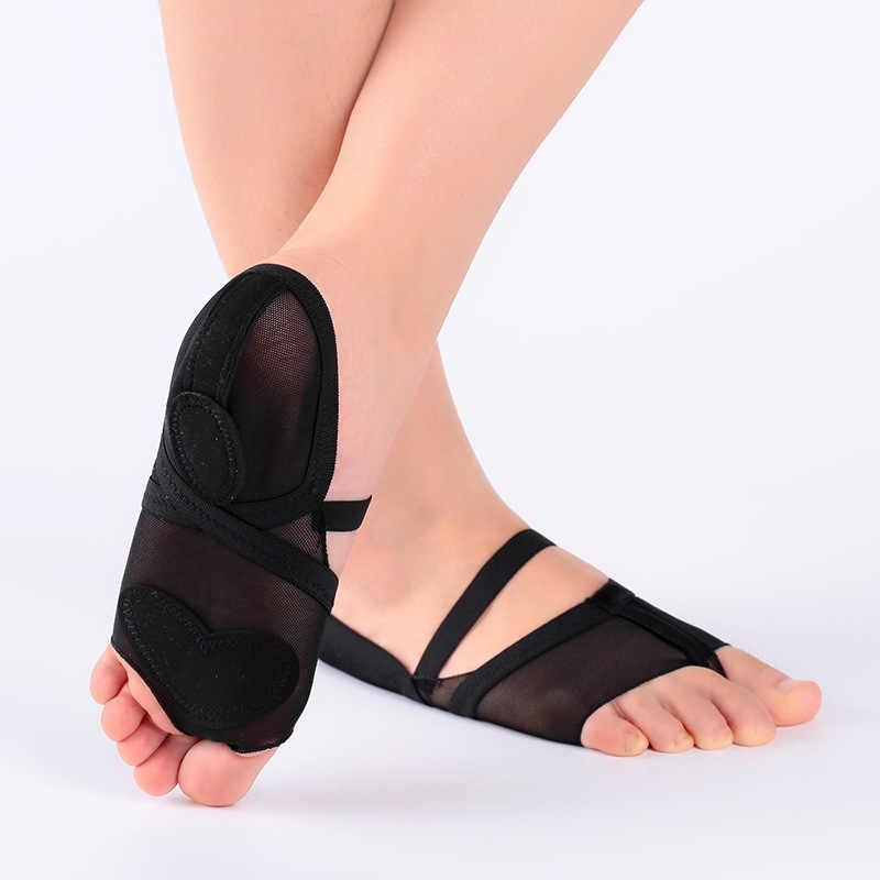 2019 גבירותיי לירי ריקוד נעלי יוגה בפועל נעל רגל חוטיני Footundeez עבור מודרני ריקוד עור בלעדי בנות חדר כושר בלט נעליים