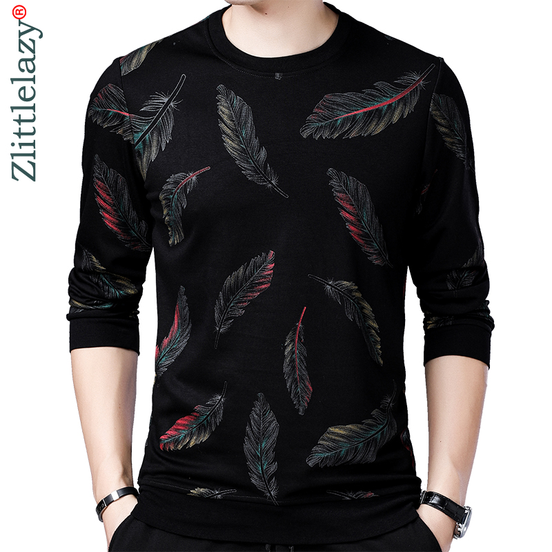 2019 designer de homens vestido de camisola fina camisa de malha blusas pullover pena desgaste dos homens slim fit malhas de moda roupas 41241