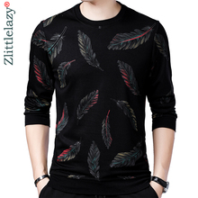 2019 designer pullover feather men sweater dress thin jersey knitted sweaters mens wear slim fit knitwear fashion clothing 41241