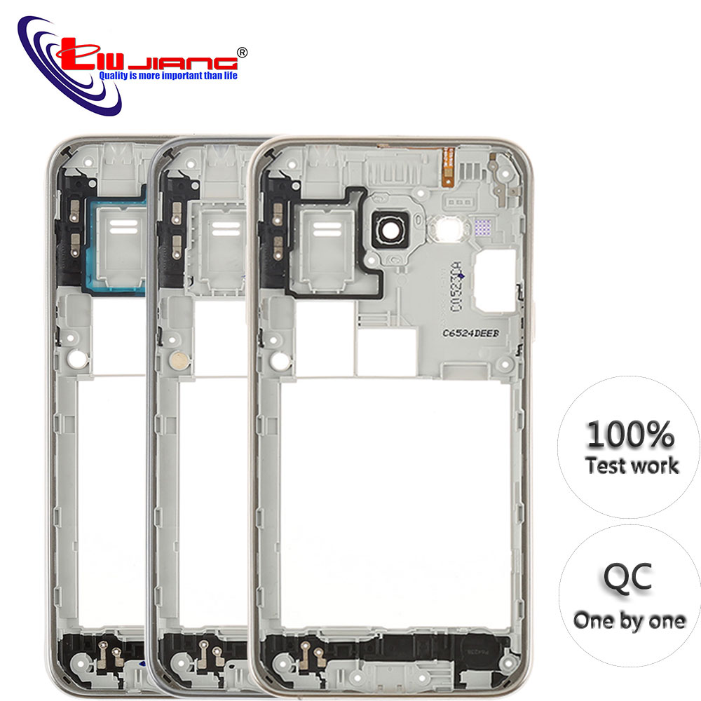 Original New Middle Bezel Frame For Samsung J5 J500F 2015 Housing Door Chassis Cover Case With Side Button Repair Parts