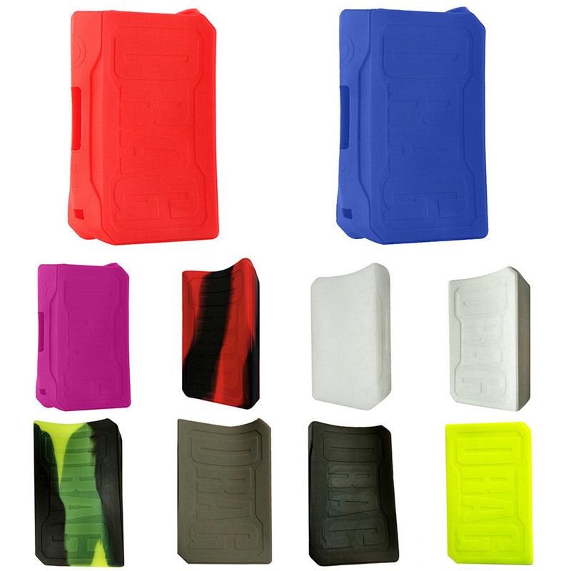 High Quality Colorful Silicone Case Sleeve Protective Covers Skin For Voopoo DRAG TC 157w Box Mod