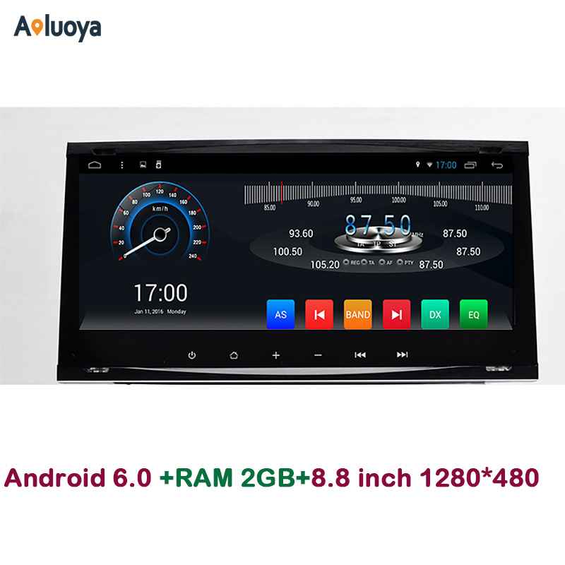 Aoluoya 8.8IPS 2GB RAM Android 6.0 CAR DVD Radio GPS Navigation For Ford Focus Galaxy Mondeo Fiesta C-max S-max Kuga Audio WIFI