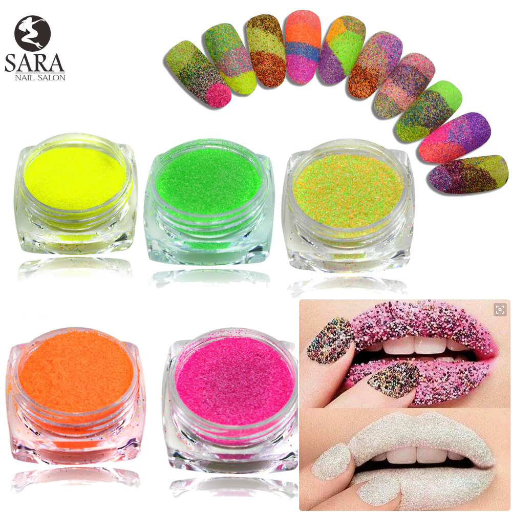 42pcs/set Shining Sugar Glitter Dust Powder Nail Art Acrylic Nail ...