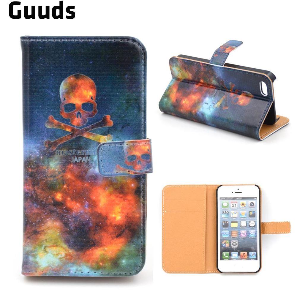 db6ef669c7 25 diseños para 5S fundas de cuero Cartera de cuero para iPhone 5S/para  iPhone 5 envío libre