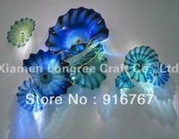 LRW065 Free Доставка Выдувного Голубой Декоративные Итальянские Настенные Тарелки