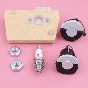 Image 5 - Filtro de ar Óleo Combustível Cap Porca Bar Spark Plug Kit Para Stihl 038 MS380 MS381 380 MS 381 Motosserra peças de Reposição peça de Reposição