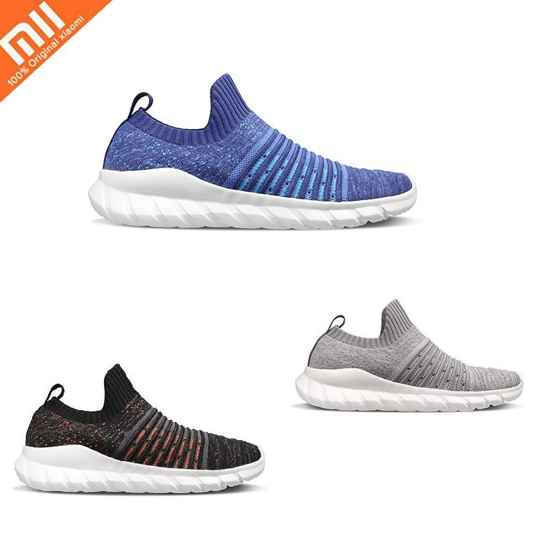 Xiaomi FREETIE Flying Woven Sports Shoes Lightweight Ventilated Elastic Knitting Shoes Breathable Running Sneaker For Man