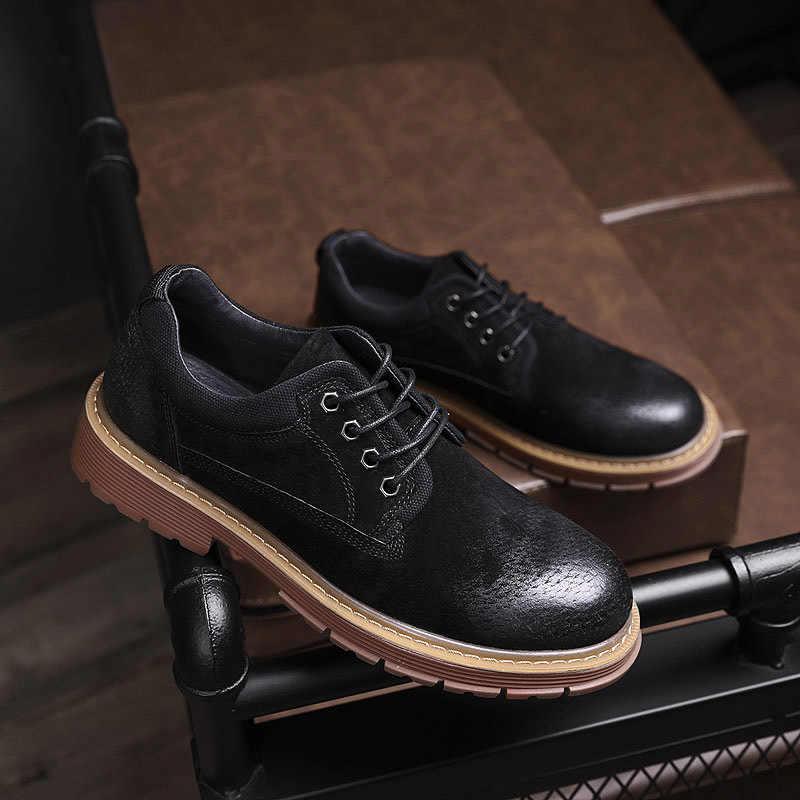 Sonbahar Haisum çizmeler erkek low-cut retro takım ayakkabı gündelik erkek ayakkabısı erkek ayakkabıları H-D810