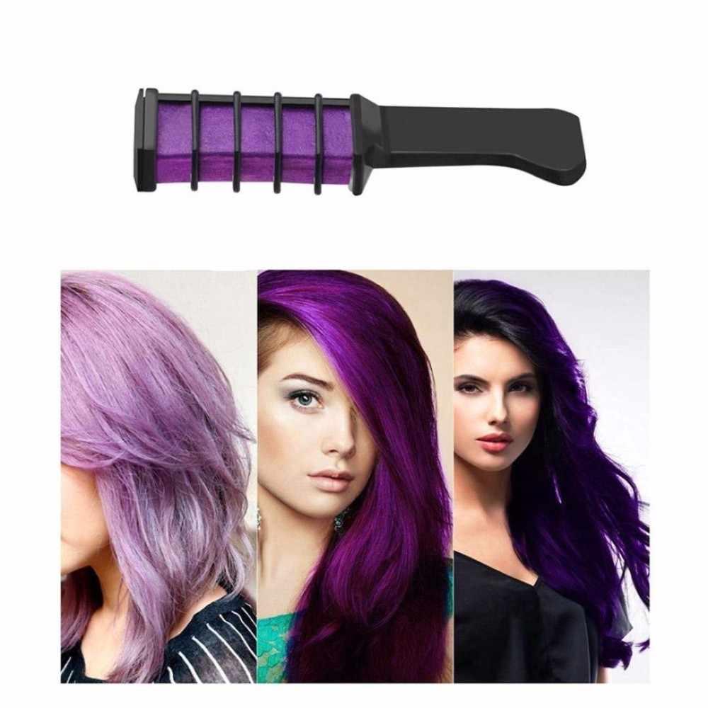 En gros professionnel 6 couleurs Mini jetable personnel Salon utiliser temporaire cheveux teinture peigne Crayons cheveux teinture outil TSLM2