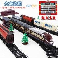 9.4 м поезд модель железнодорожные пути 1/87 Винтаж паровоз автоцистерны пассажирский поезд собрать транспорт для детей игрушки подарок