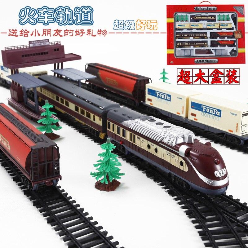 9.4 M Train modèle rail way 1/87 vintage train à vapeur réservoir camion passager train assembler transport enfants jouets cadeau
