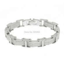 High Quality Men Cool 316L Stainless Steel Bracelet Jewelry Silver Stainless Steel Bangle Cuff Bracelet Wristband Chain new fashion punk jewelry men bracelet stainless steel cuff bangle silver hand chain black silicone wristband