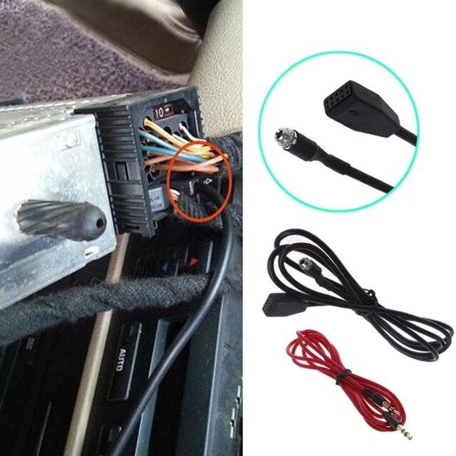 ממשק מתאם MP3 מוסיקה כבל אודיו לרכב AUX 3.5mm עבור BMW E39 E53 X5 E46