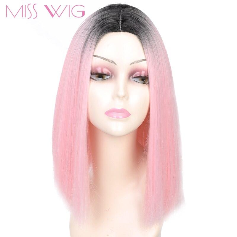 Мисс парик Розовый Ombre Черный Блондинки синий, серый парик длинные прямые волосы короткие Искусственные парики для черный Для женщин Искусственные парики 230 г