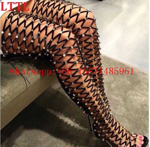 Popular Strap Cut Out Thigh High Boots-Buy Cheap Strap Cut Out ...