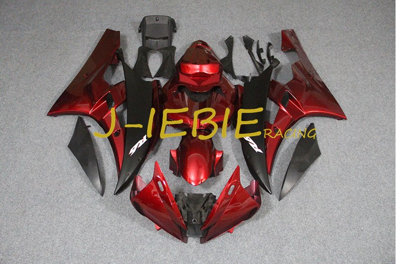 Black red Injection Fairing Body Work Frame Kit for Yamaha YZF 600 R6 2006-2007Black red Injection Fairing Body Work Frame Kit for Yamaha YZF 600 R6 2006-2007