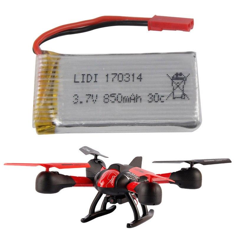 1pcs 3.7V 850mAh High Capacity li-po Battery For JXD 509G 510G RC Quadcopter rc helicopter parts rechargeable battery 1pcs 100% orginal firefox 11 1v 1500mah 15c li po aeg airsoft battery f3l15c drop shipping