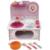 Brinquedos do bebê criança conjunto de cozinha conjunto de cozinha de madeira do brinquedo para crianças de madeira jogar comida cozinha rosa presente fogão