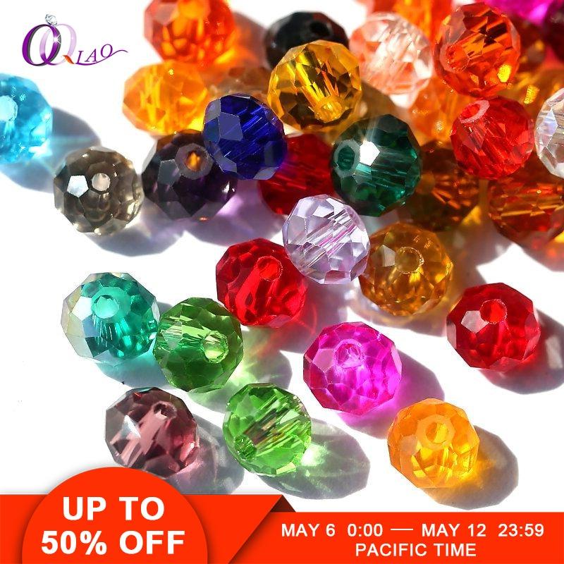 Kaufen 1 und erhalten 1 freies 4mm bunte kristall perlen charms glas lose perlen runde schmuck perlen für schmuck, der...