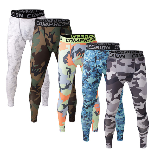 39415ef81b Mens Camouflage Compression Pants Leggings Sports T-shirt Fitness  Bodybuilding Running Tights Crossfit Trousers Sweatpants