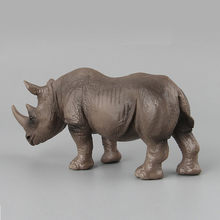 CHAMSGEND 2018 Hot Rhinoceros Animal Model Toy Figurine Model Ornament Toys Sept28(China)