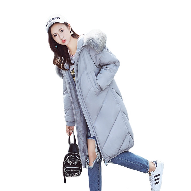 Oversized Coats Women's Down Cotton Jacket Female Parka Hooded Fur Collar Long Parkas Winter Jacket Women Zipper Maxi Coat C3661 winter jacket women hooded fur collar casual cotton coat long jacket female parkas mujer maxi coats oversized coats thick c2548
