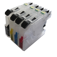 4 COLOR LC103 BK C M Y refillable Ink cartridge for Brother  MFC-J6520DW/MFC-J6720DW/MFC-J6920DW printer with permanent chip