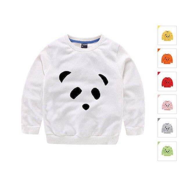 Мальчики Девочки Футболка С Длинным Рукавом Panda Pattern Детские Футболки Весна Осень Дети Детская Одежда Топы Тройники Бренд Детской Одежды