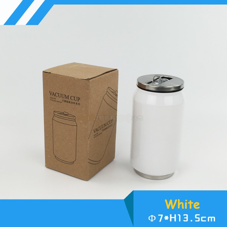 Blank Sublimation 280ml/500ml Coke Thermos Bottle Cup Transfer Prtinting By Sublimation INK DIY Transfer Heat Press Printing