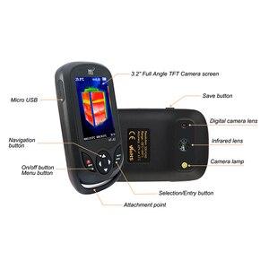 Image 3 - Ręczna kamera termowizyjna 3.2 calowy ekran wyświetlacza kamera na podczerwień polowanie pomiar temperatury funkcje obrazowania termicznego