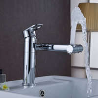 Solid Brass Single Handle Luxury Bathroom Faucet Good Quality And Modern Sink Mixer Tap Rotatable Tap