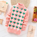 children's wear sweaters children  round collar love candy color stretch sweater with thick hot style sweater of the girls FWA02